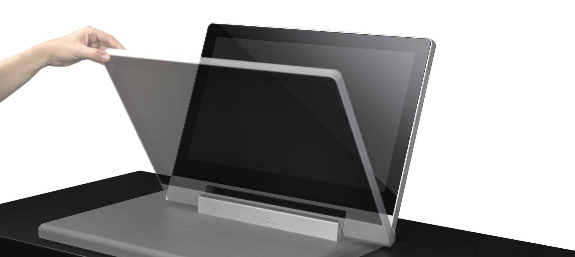 Scrivania Con Monitor A Scomparsa.Monitor Design Pieghevole Manualmente Ah2 Di Arthur Holm