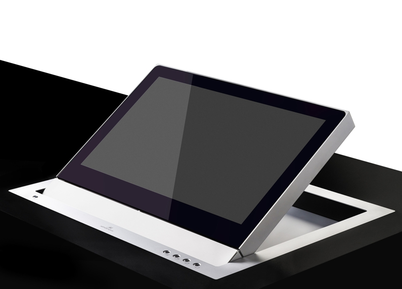 Electrically foldable monitor