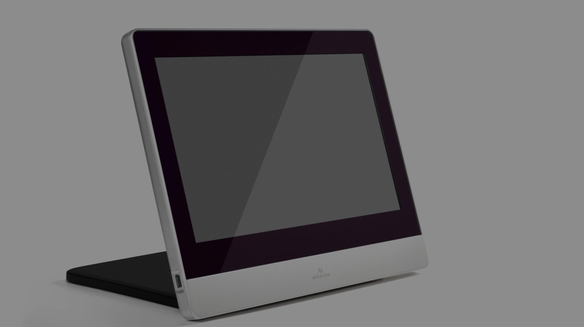 monitor reclinabile manualmente in alluminio