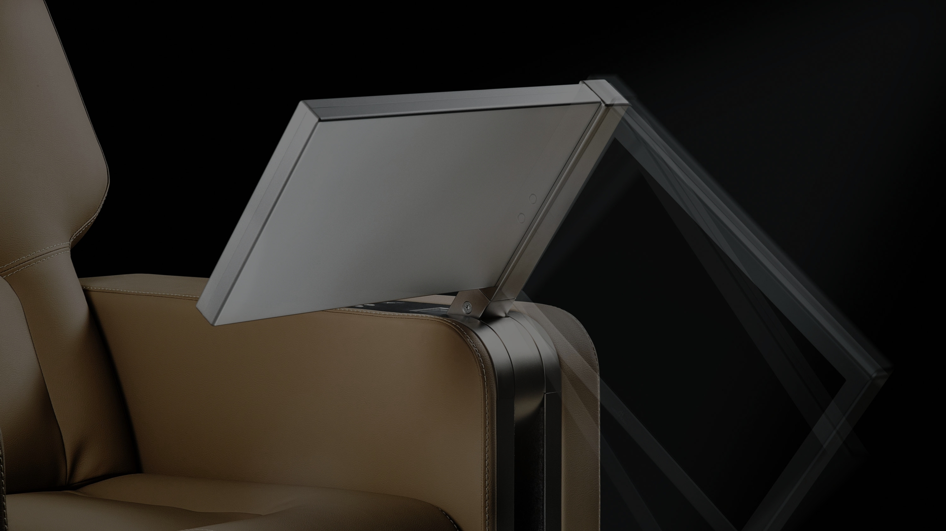 monitor motorizzato per braccioli DynamicChairDisplay