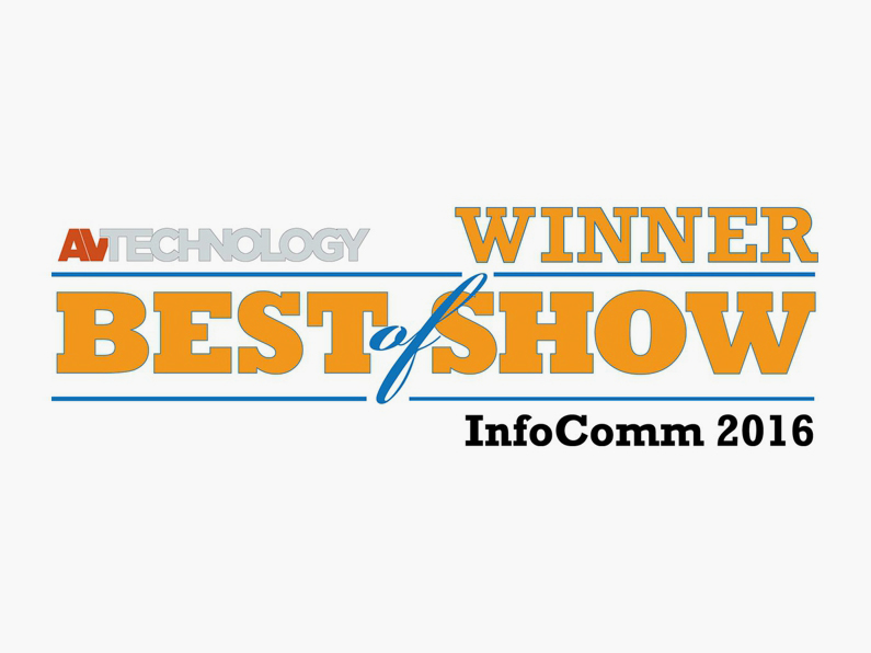 Best of Show award for Arthur Holm's DynamicShare at InfoComm 2016