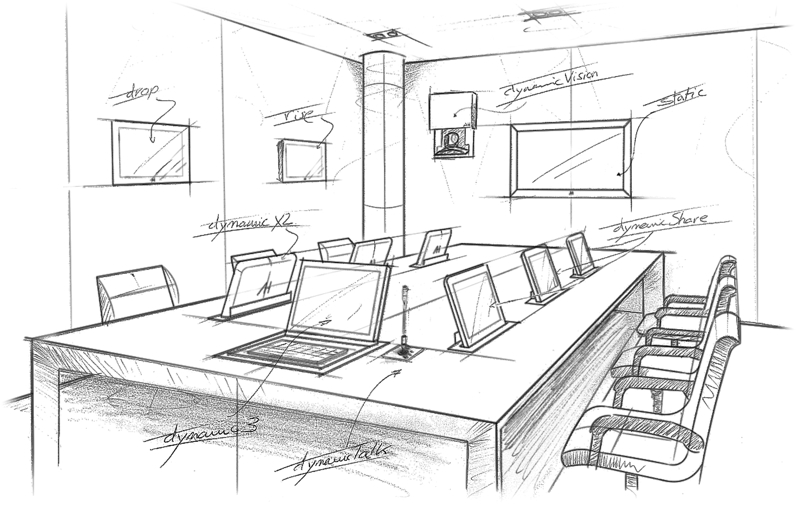 monitors installations for meeting rooms