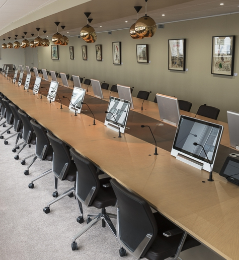 audiovisual installation for conference rooms