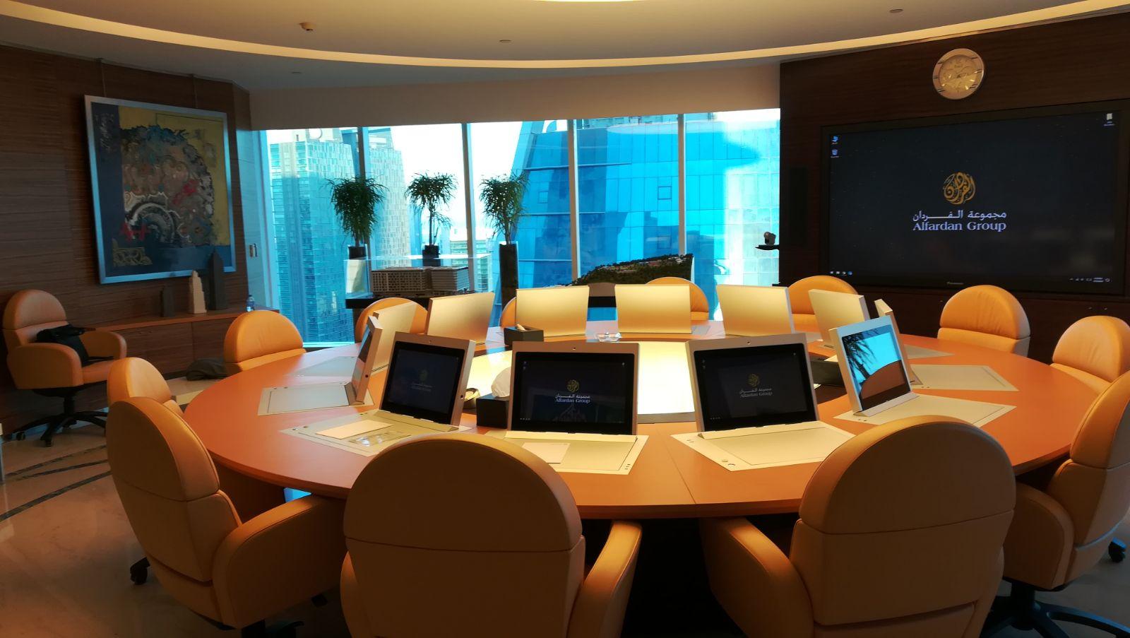 La siège du groupe Alfardan à Doha, au Qatar