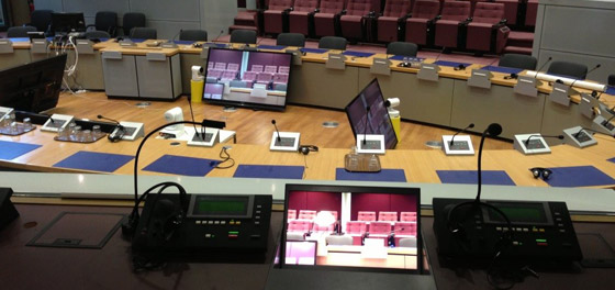 monitors for interpreter booths