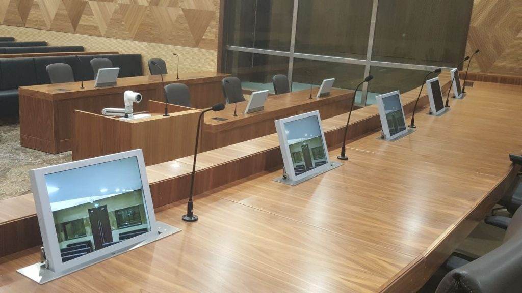 monitors for court rooms