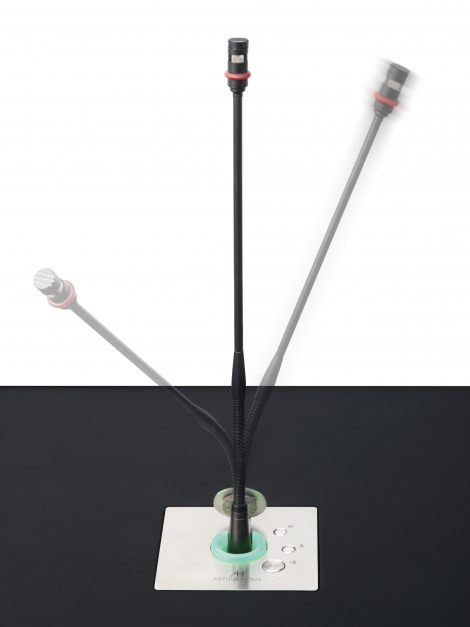 retractable microphone for meeting rooms
