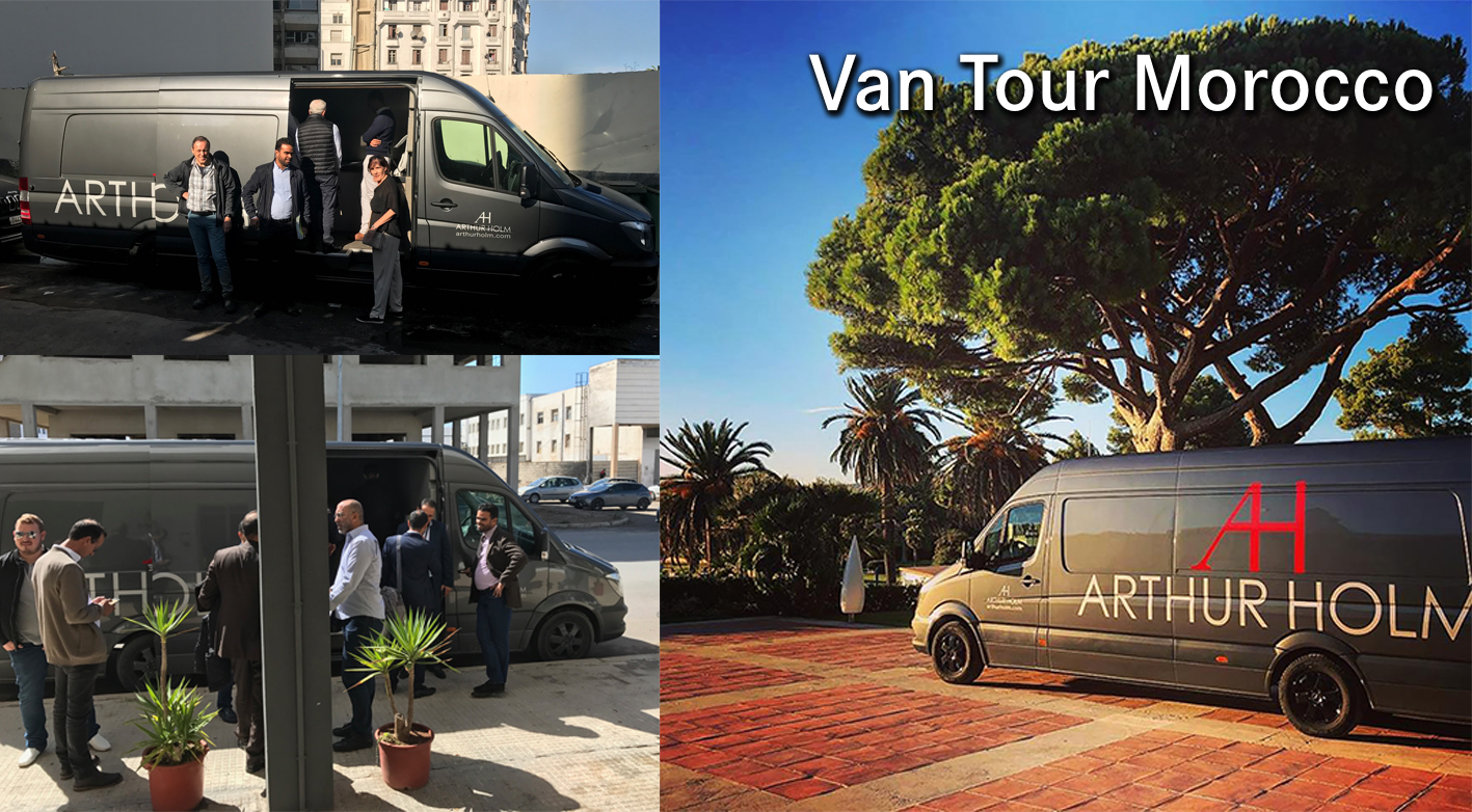 The Arthur Holm Van Tour keeps going! Latest destination, Morocco