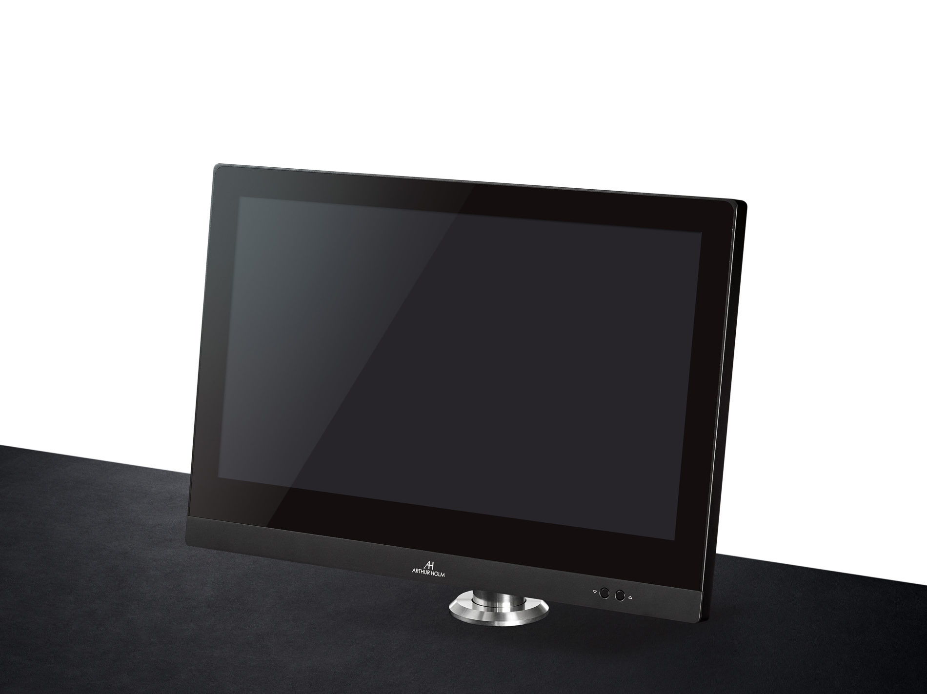 reception monitor with motorised adjustment