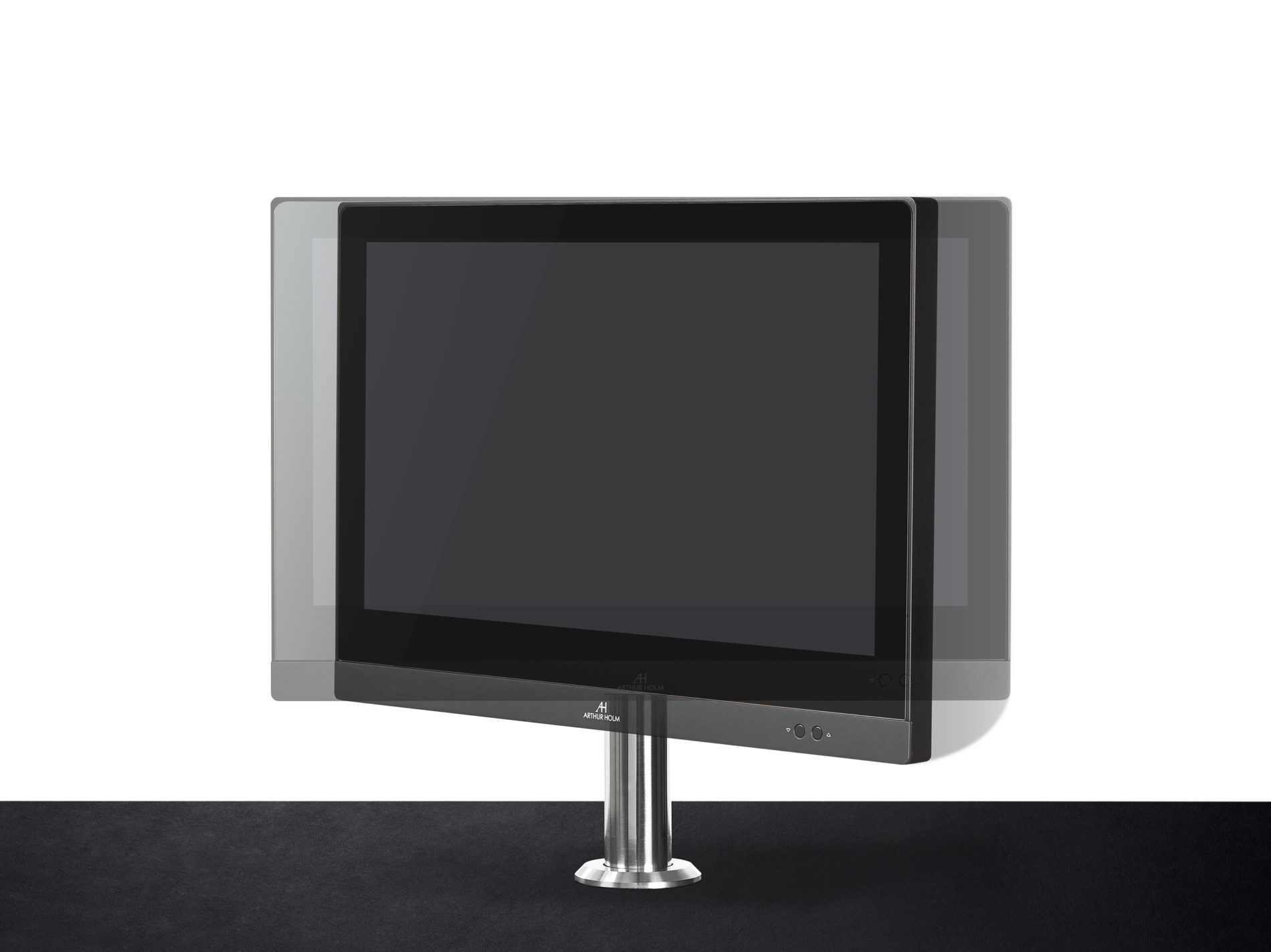 manual and motorised monitor for information desks in receptions