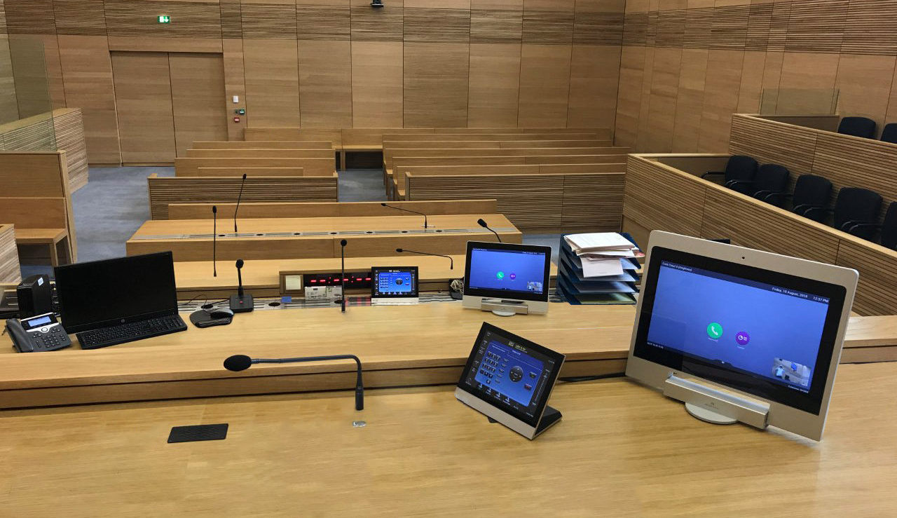 monitors for courtrooms