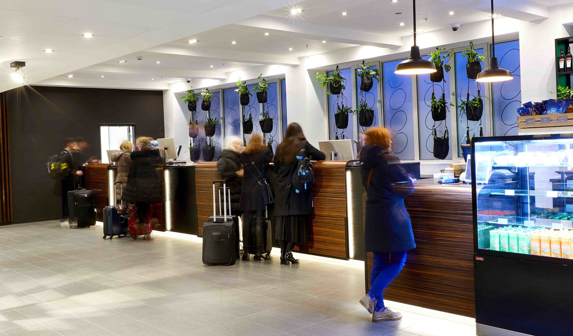 innovative modern hotel reception