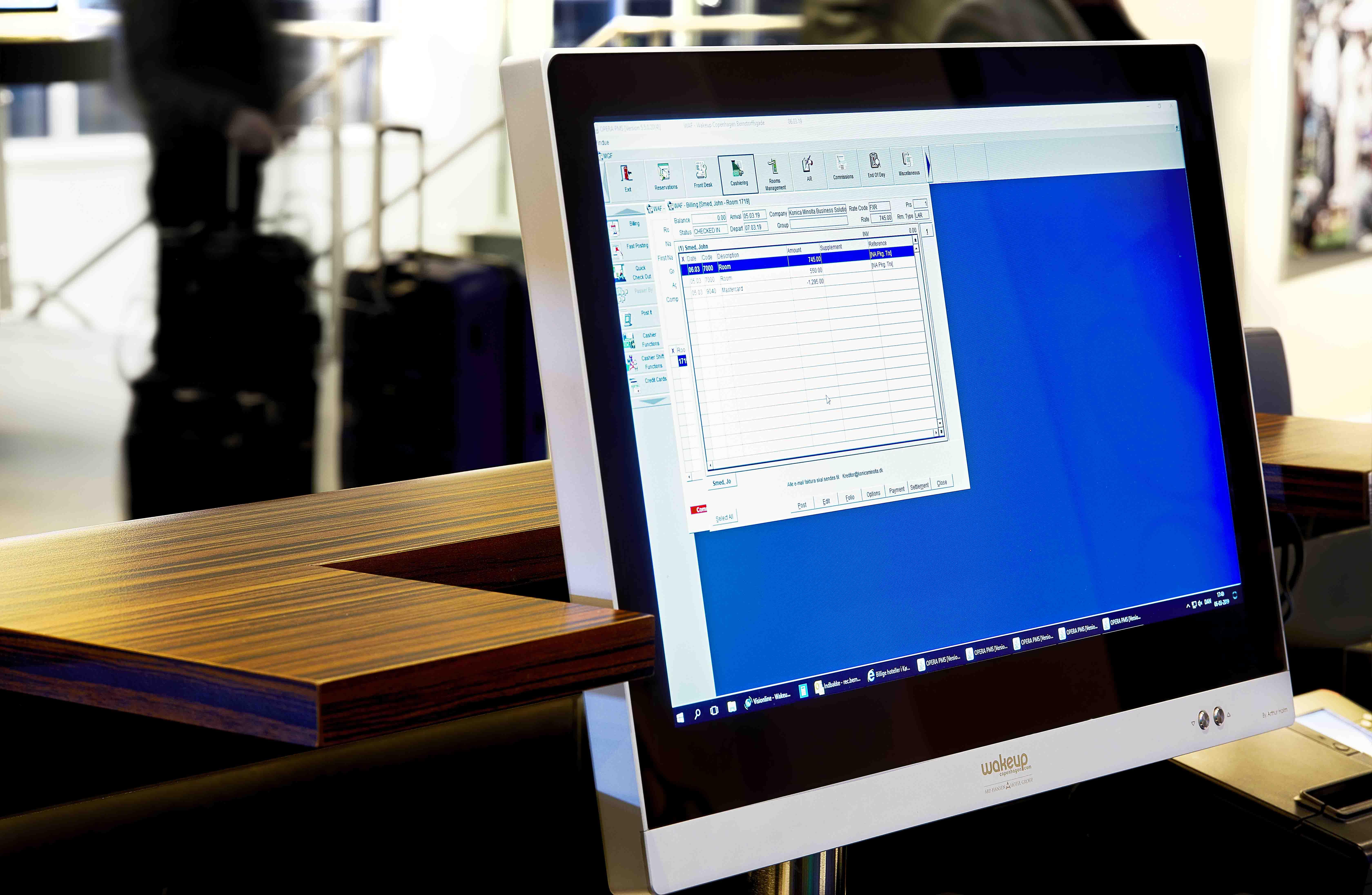 monitors for reception desks
