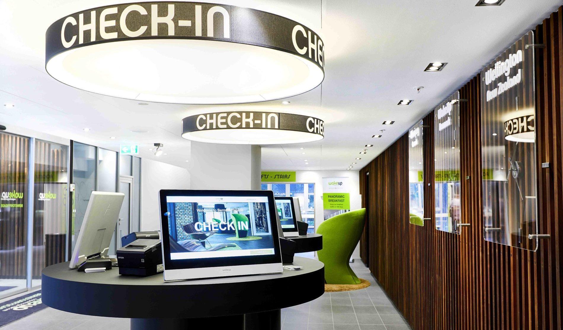custom monitors for reception areas