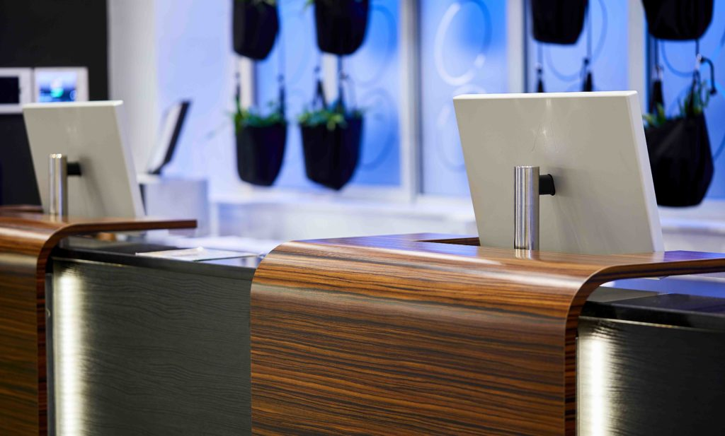 monitors for information desks