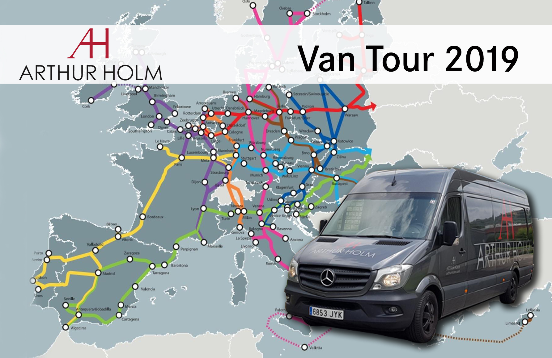 Experience Arthur Holm live, the Van Tour 2019 is already in motion!
