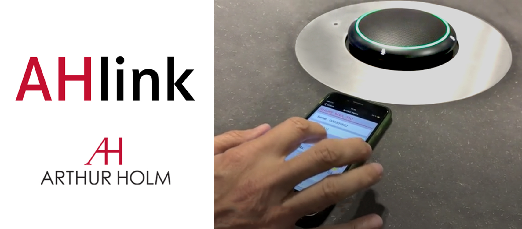 AHlink turns your mobile device into a tool to setup and configure your meeting room!