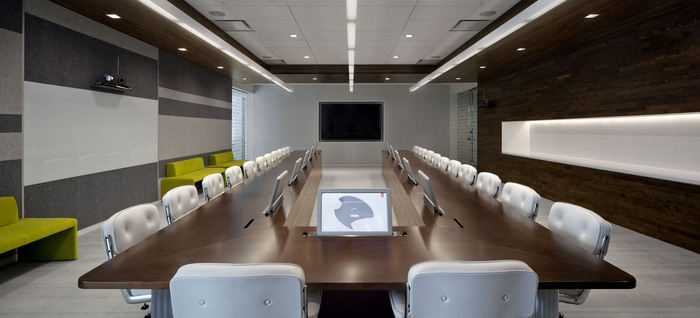 retractable monitors in adobe headquarters