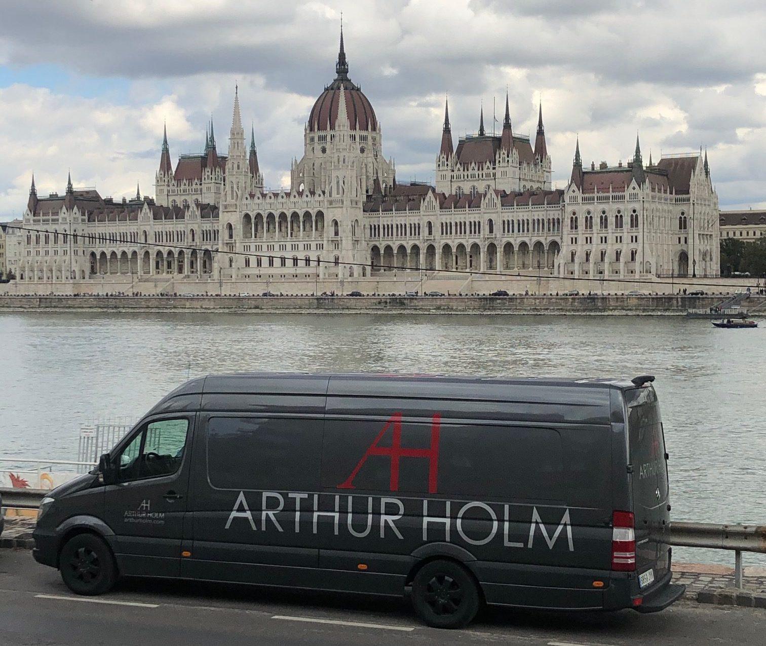 Arthur Holm en la carretera