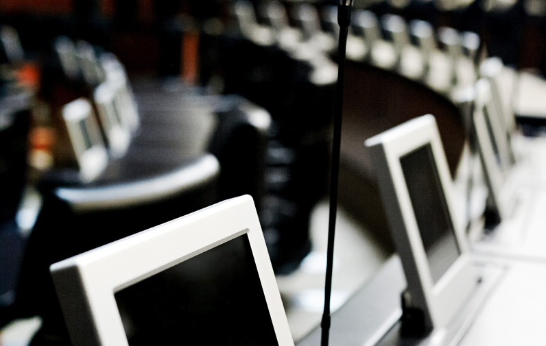 monitors installations for convention rooms